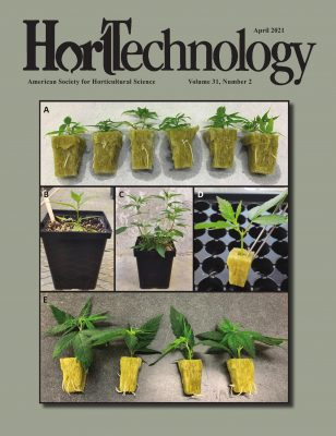 cover of April 2021 issue of HortTechnology